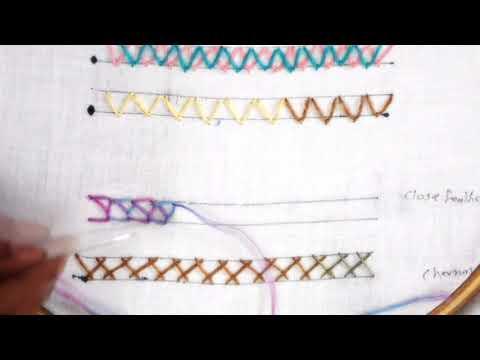 Close Feather Stich | Hand Embrodery Stitch Tutorial