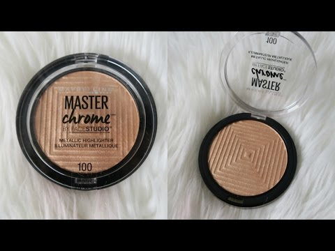 Maybelline Master Chrome Highlighter   Review & Demo