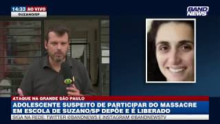 Suzano: Adolescente suspeito de participar de ataque é liberado