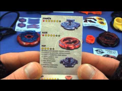 Beyblade Metal Masters CRUSHING BLAST Rock Zurafa R145WB VS Torch Gemios W105CS UNBOXING HD!