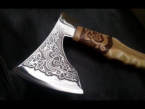 Как сделать топор . Топор викингов.