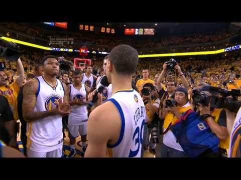 Stephen Curry and the Warriors Thank the Fans
