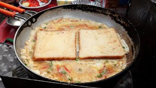 india egg omelette toast / indian street food