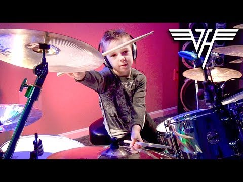 """Hot For Teacher"" Avery 6 year old Drummer"