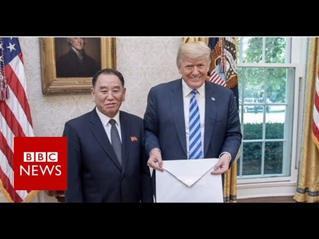 US-North Korea: Trump gets a strangely large letter - BBC News