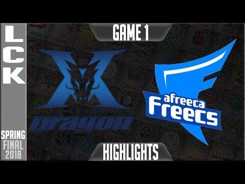 KZ vs AFS Highlights Game 1 | LCK Playoffs GRAND FINAL 2018 King-Zone DragonX vs Afreeca Freecs G1