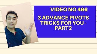 Learn MS Excel -Video 466- 3 Advance pivot features Part2