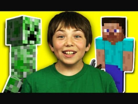 KIDS REACT TO MINECRAFT Music Videos
