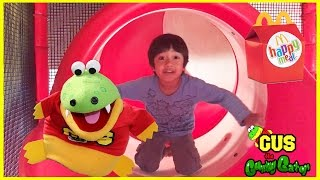 McDonald's Indoor Playground for Kids + Chuck E Cheese Family Fun Indoor Play Area Ryan ToysReview