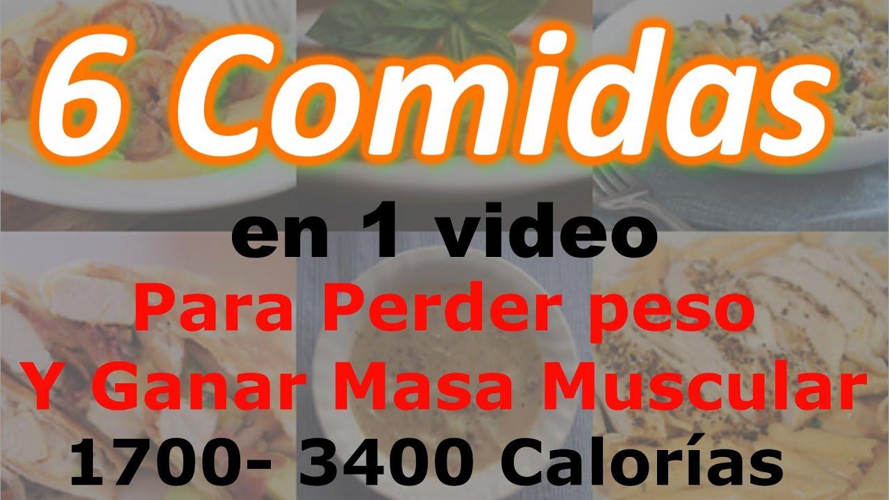 6 comidas en 1 video para bajar de peso y ganar masa for Hierbas para bajar de peso y quemar grasa