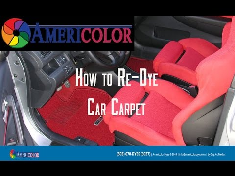 How to Re-Dye Your Car Carpets