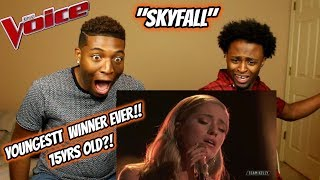 "Download Lagu Youngest 'The Voice' Winner Brynn Cartelli Sings""Skyfall"" (REACTION) (15 YEARS OLD!) Gratis STAFABAND"