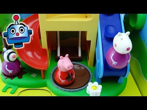 Peppa Pig Bailones Casa de Juegos Peppa Pig Weebles Wind & Wobble Playhouse - Juguetes de Peppa Pig