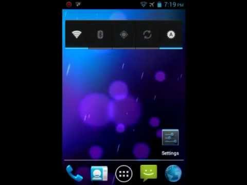 Cyanogenmod 9 ics rom on Live With Walkman