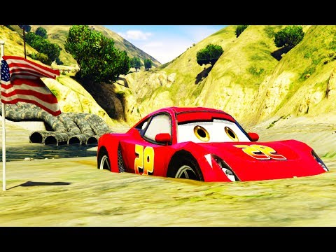 LIGHTNING MCQUEEN DROWNED IN MUD! Rescue w/ Spiderman, Hulk and Wolverine Cartoon for Kids