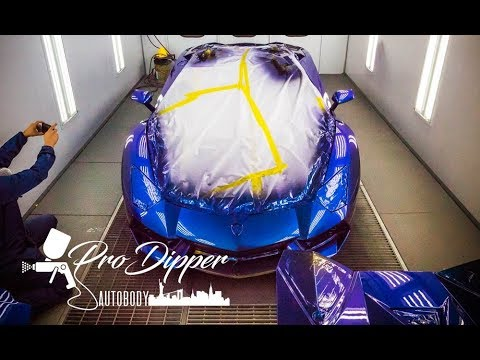 First Liquid Wrap Lamborghini Aventador In The Us Youtube