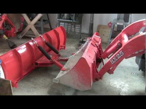 Installing BXpanded snow plow  on Kubota BX