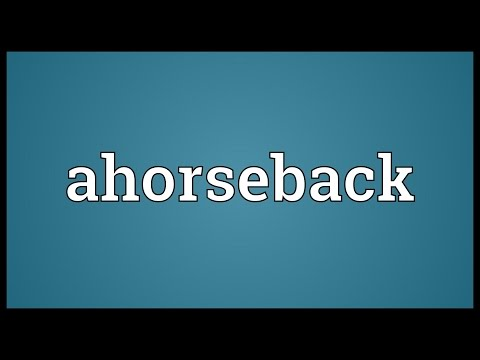 Header of Ahorseback