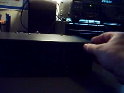 Kenwood TS-440 listening to CW with the EQ.