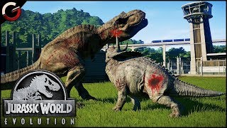 DINOSAURS FIGHTING BATTLE ARENA! Most Epic DINO Fight Scenes | Jurassic World Evolution Gameplay