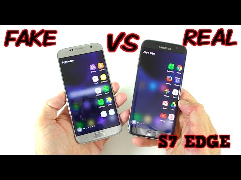 FAKE vs REAL Samsung Galaxy S7 Edge - Buyers BEWARE! 1:1 Clone
