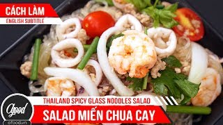 Thailand spicy Glass Noodles Salad Recipe | How to Make Thailand spicy Glass Noodles Salad Easy