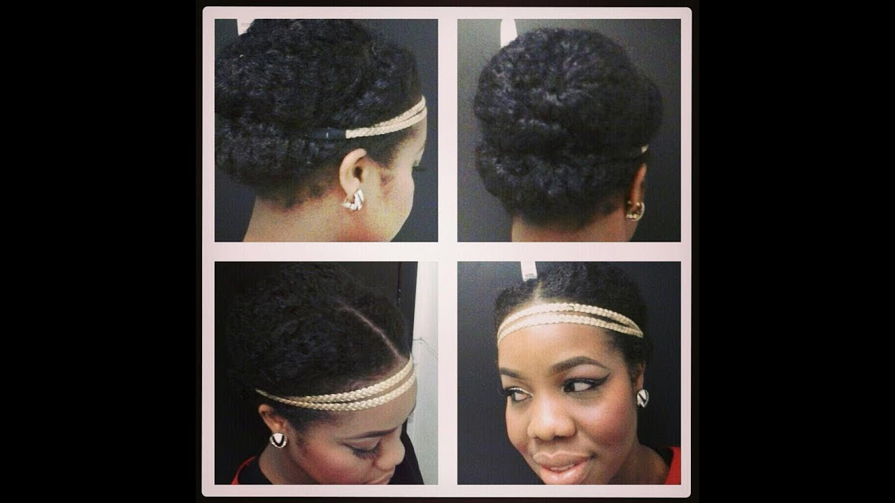 Natural Hair Cute Hair Style With A Headband YouTube