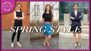 1 week of outfits!│Spring Capsule Wardrobe Inspiration │Justine Leconte