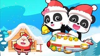 Christmas Flight to Santa Claus's Home | Gingerbread House | Xmas Gift | Christmas Songs | BabyBus