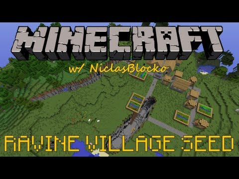 MINECRAFT SEED: VILLAGE IN A RAVINE!