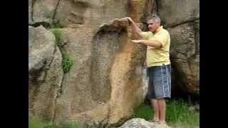 Giant Foot Print 200 Million Yrs Old - South Africa.