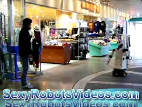 Robovie Helps Navigate In A Shopping Mall - Sexy Robots Videos video