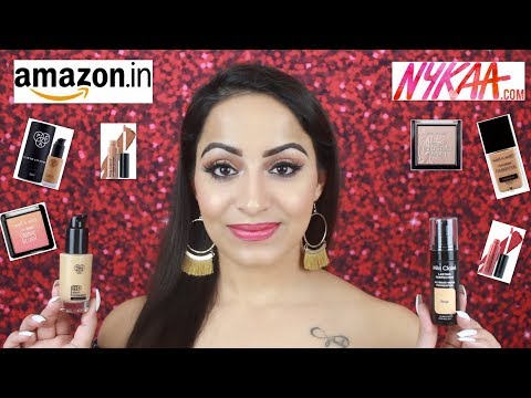 HUGE NYKAA & AMAZON MAKEUP JEWELRY HAUL (HINDI)| Deepti Ghai Sharma