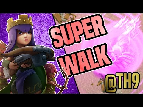 Clash of Clans | SUPER QUEEN WALK @ TH9 FOR 3 STARS | BADA BING vs. DARK LOOTERS Z