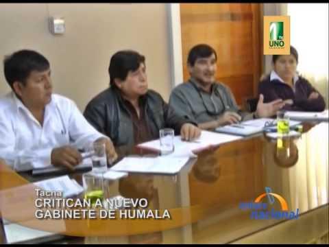 Tacna: Consejeros regionales critican a nuevo gabinete de Ollanta Humala