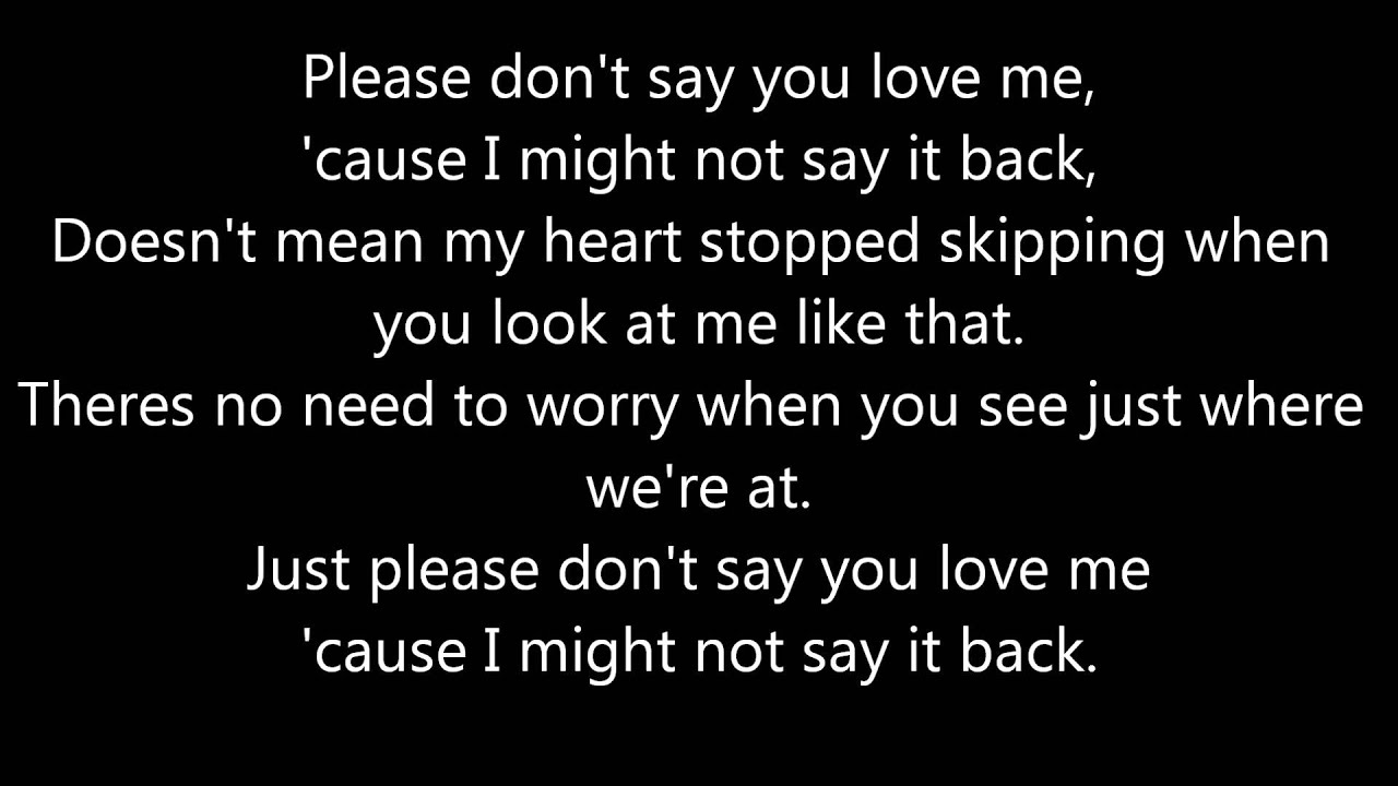you want what you say lyrics