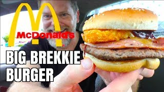 New McDoanld's Big Brekkie Burger Food Review - Greg's Kitchen
