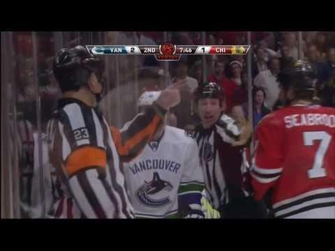 Raffi Torres Destroys Brent Seabrook-NHL Playoffs 2011-(4/17/11)