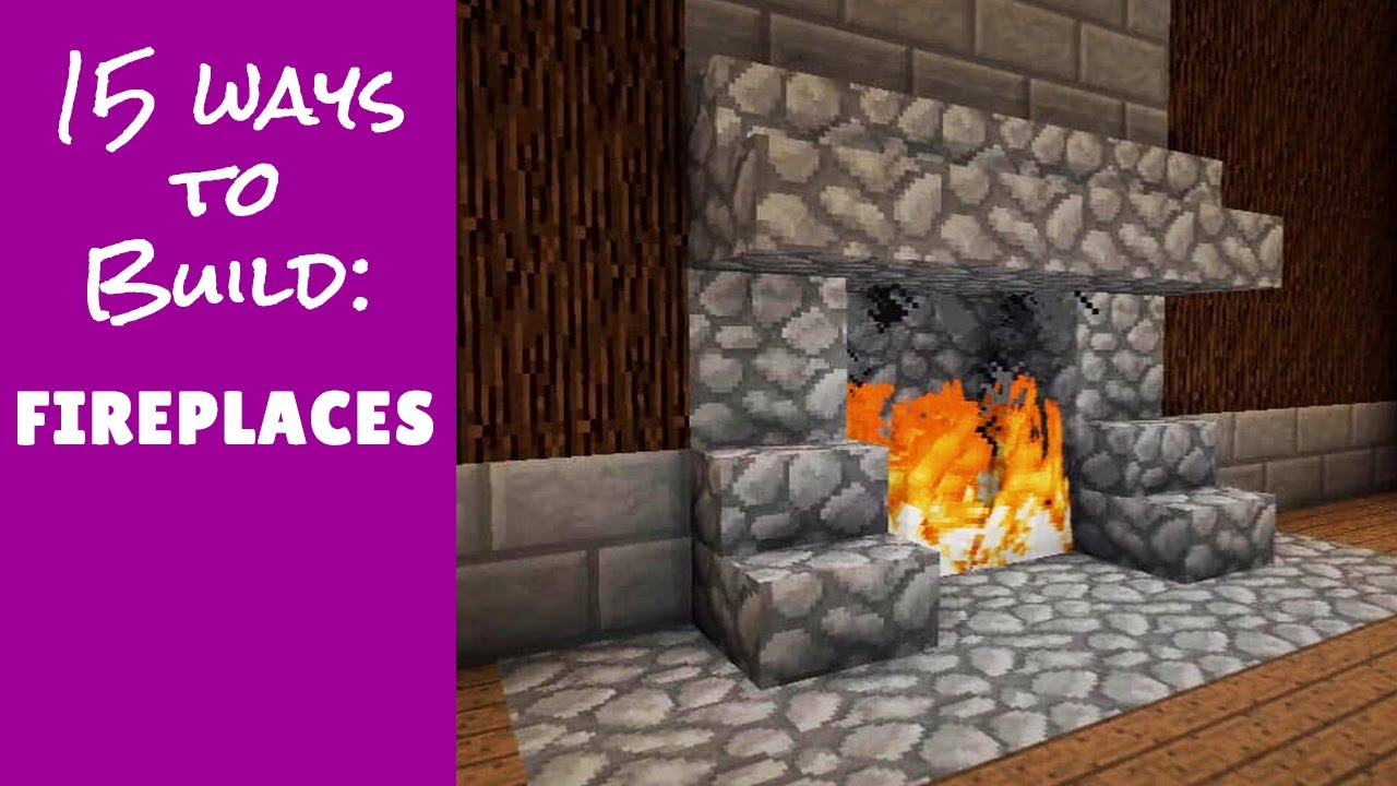 Minecraft Furniture Fireplace Designs And Ideas YouTube