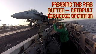 Working On An Aircraft Carrier - Catapult 4 Deckedge Operator
