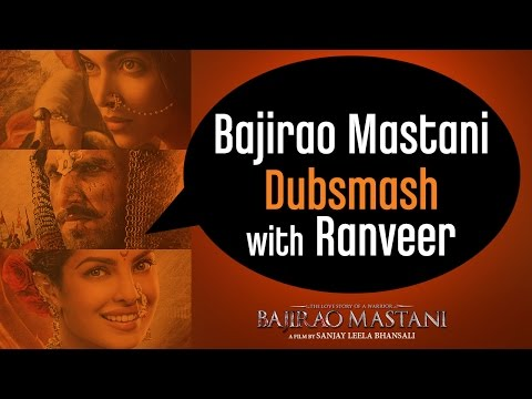 Ranveer Singh Invites You To Participate In #BajiraoMastaniDubsmash Contest