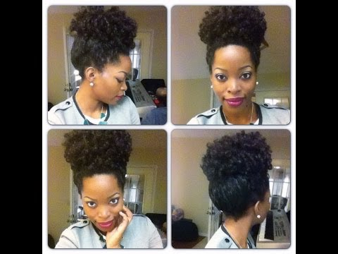 How to do a high puff: Crochet Braids Curly ~ CURLED DOING A ROD SET  Msnaturallymary