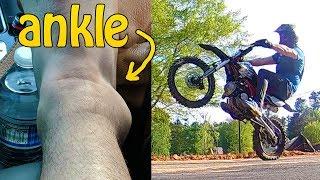 Wheelie Practice Gone Wrong