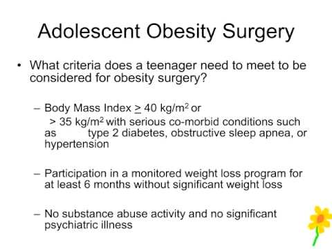 Adolescent Obesity Surgery