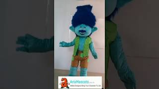 Adult Funny Blue Trolls Character Branch Mascot Costume for Party Cartoon Costumes ArisMascots.com