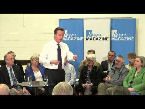 David Cameron talks to Saga about the 2014 Budget