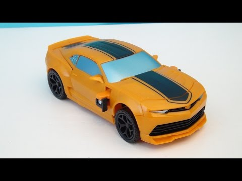 Transformers 4 Bumblebee Flip N Change Age Of Extinction Video Toy Review video