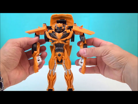 TRANSFORMERS 4 BUMBLEBEE FLIP N CHANGE AGE OF EXTINCTION VIDEO TOY REVIEW