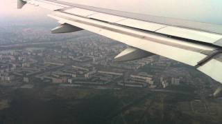 Windy approach and landing in Moscow Domodedovo