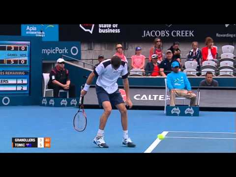Marcel GRANOLLERS (ESP) vs Bernard TOMIC (AUS) FULL MATCH Apia International Sydney 2014